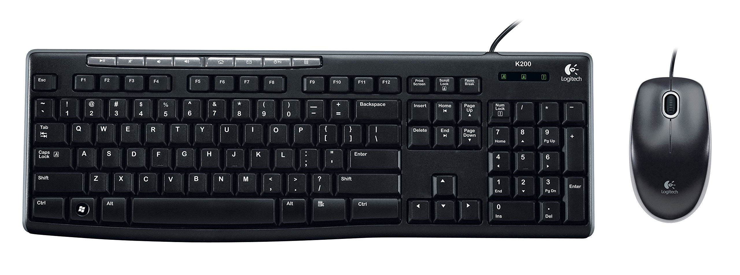 galleon logitech media combo mk200 full size keyboard and high definition optical mouse 920. Black Bedroom Furniture Sets. Home Design Ideas