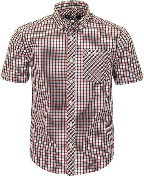 Ben Sherman - Camisa de algodón para niños Rojo rojo oscuro 12-13 Años: Amazon.es: Ropa y accesorios