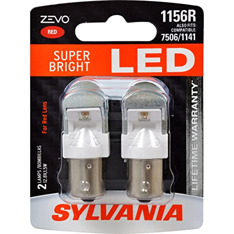 Amazon.com: SYLVANIA - 1156 ZEVO LED Red Bulb - Bright LED Bulb, Ideal for Stop and Tail Lights (Contains 2 Bulbs): Automotive
