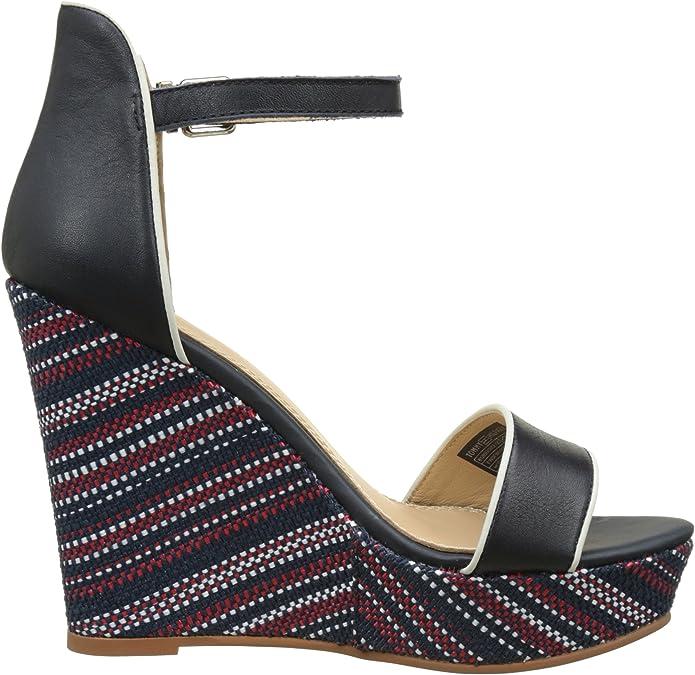 Schuhe Tommy Hilfiger Damen B1285eatrice 12c Plateau Schuhe
