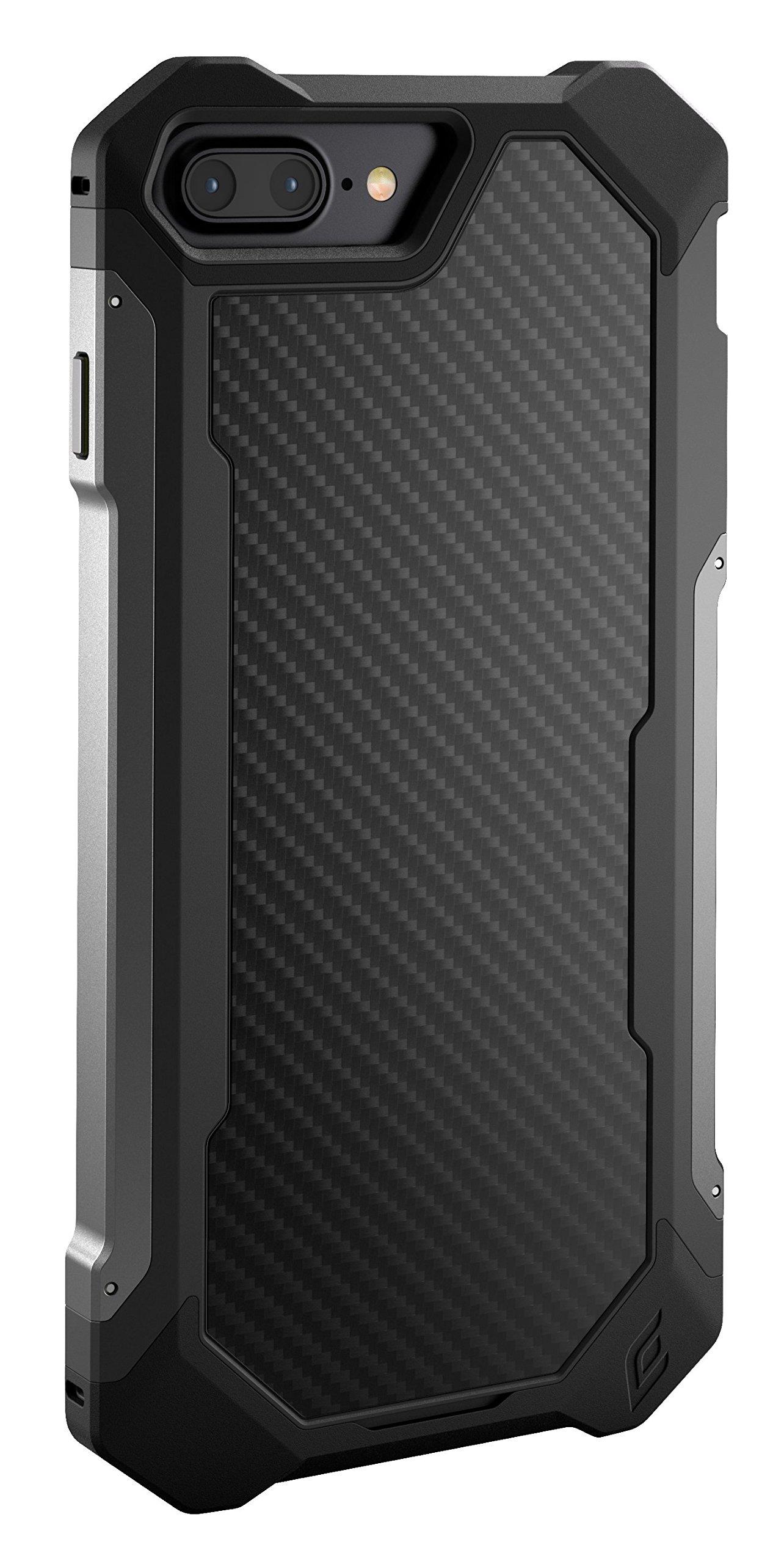 Element Case Sector Mil-Spec Drop Tested Case for Apple iPhone 8 Plus and 7 Plus - Carbon (EMT-322-133EZ-02)
