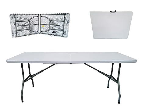 a944352eb95c Folding Tables UK Rectangular Plastic Top Fold in Half Table