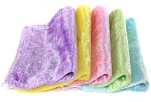 Free of Odor, Stain And Grease, Thick Absorbent Wood Fiber Dish Cloths, Wash Cloth For Kids, All Purpose For Kitchen, House And Face, Washing Dishes, Wiping Window and Car, Set of 5