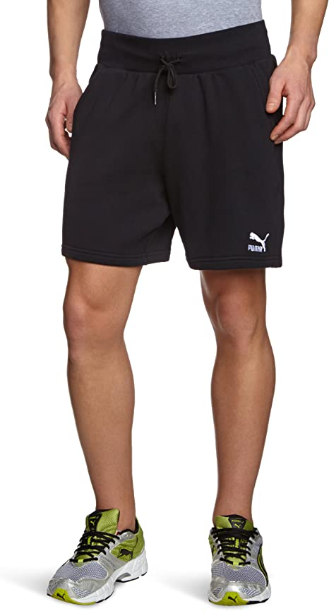 PUMA Herren kurze Sweat Hose, black, M, 562842 01: