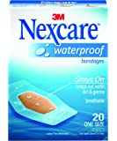 Nexcare Waterproof Bandages, Hypoallergenic, Clear, 20 Bandages, One Size