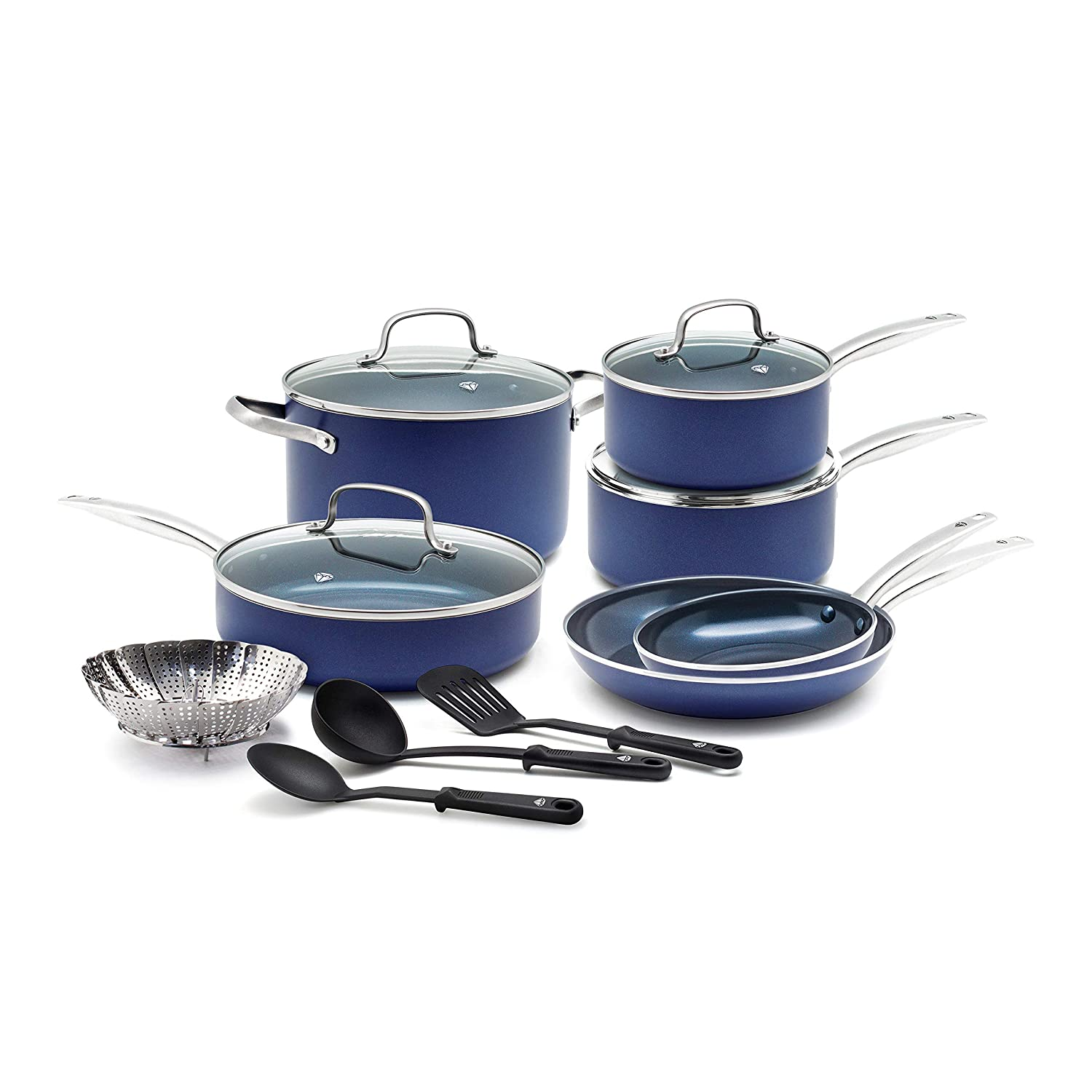 Blue Diamond Pan CC001951-001 Cookware-Set 14pc Blue