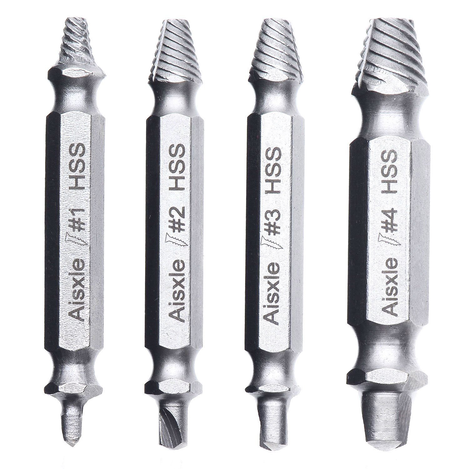 screw extractor for laptop. damaged screw extractor and remover set by aisxle, easily remove stripped or screws. made from h.s.s. 4341#, the hardness is 62-63hrc, for laptop t