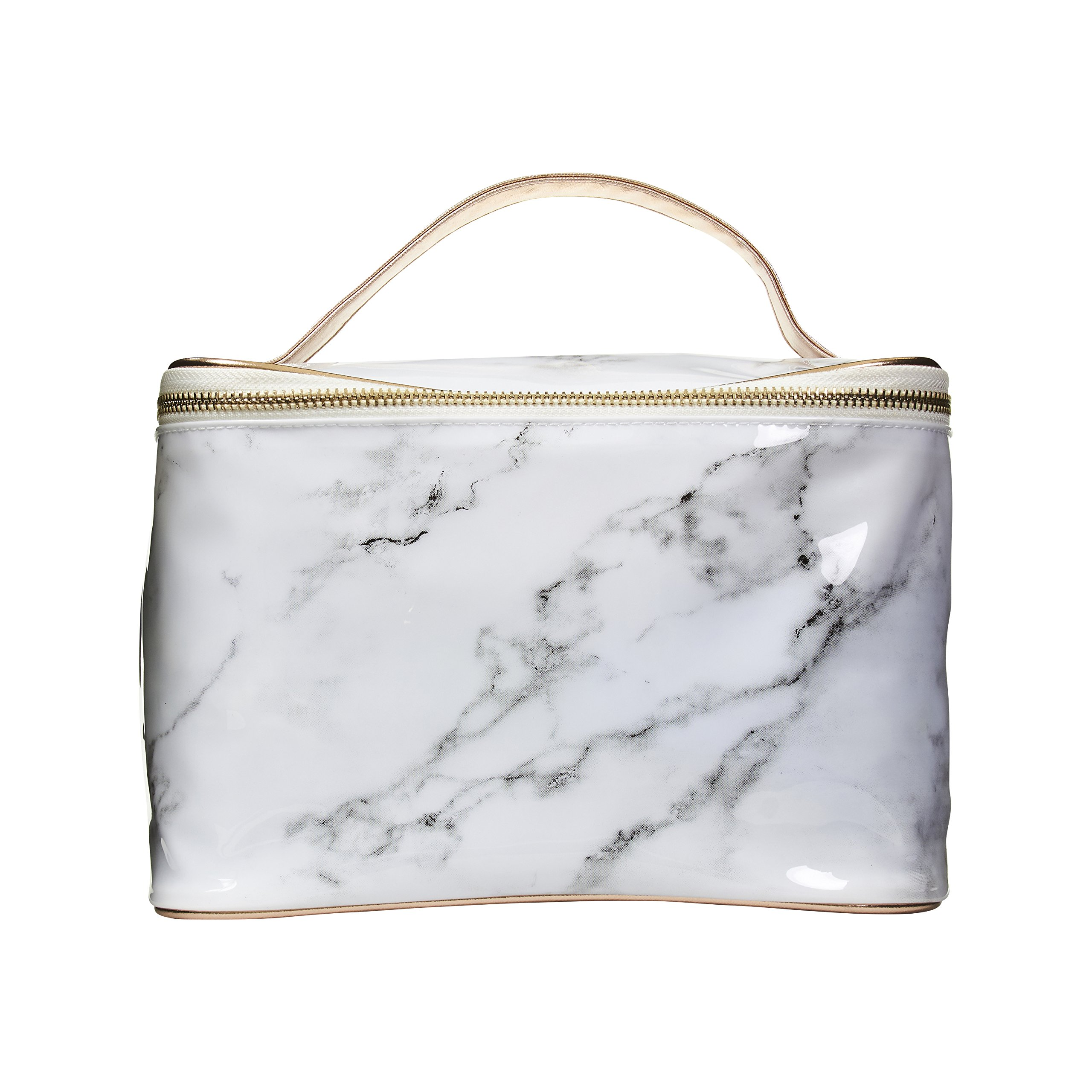 Cosmopolitan Travel Makeup Bag Cosmetic Case Organizer Bag for Women (Marble)