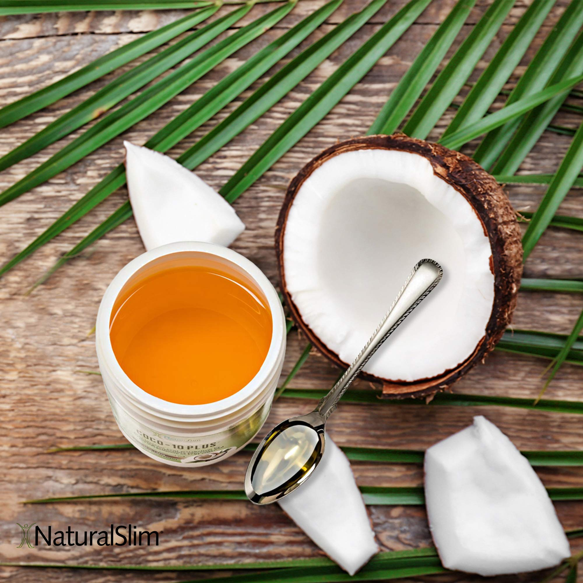 NaturalSlim''Super'' Organic Coconut Oil with CoQ10, Formulated by Obesity and Metabolism Specialist to Improve Energy Levels and Assist with Weight Loss - Natural Fat Burner to Any Diet Attempt 16 Oz by RelaxSlim  (Image #5)