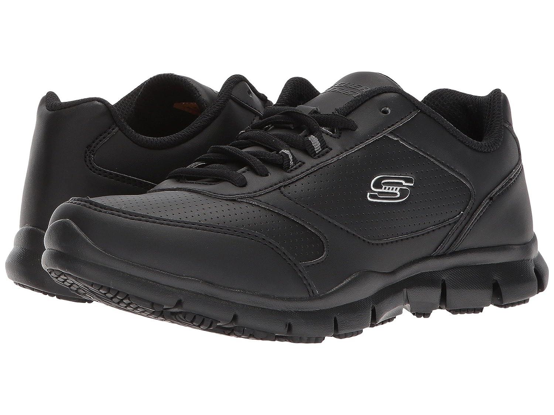 (スケッチャーズ) SKECHERS レディースワークシューズナースシューズ靴 Hardwood [並行輸入品] B07FRSD5F1 7.5 (24.5cm) B Medium|ブラック ブラック 7.5 (24.5cm) B Medium