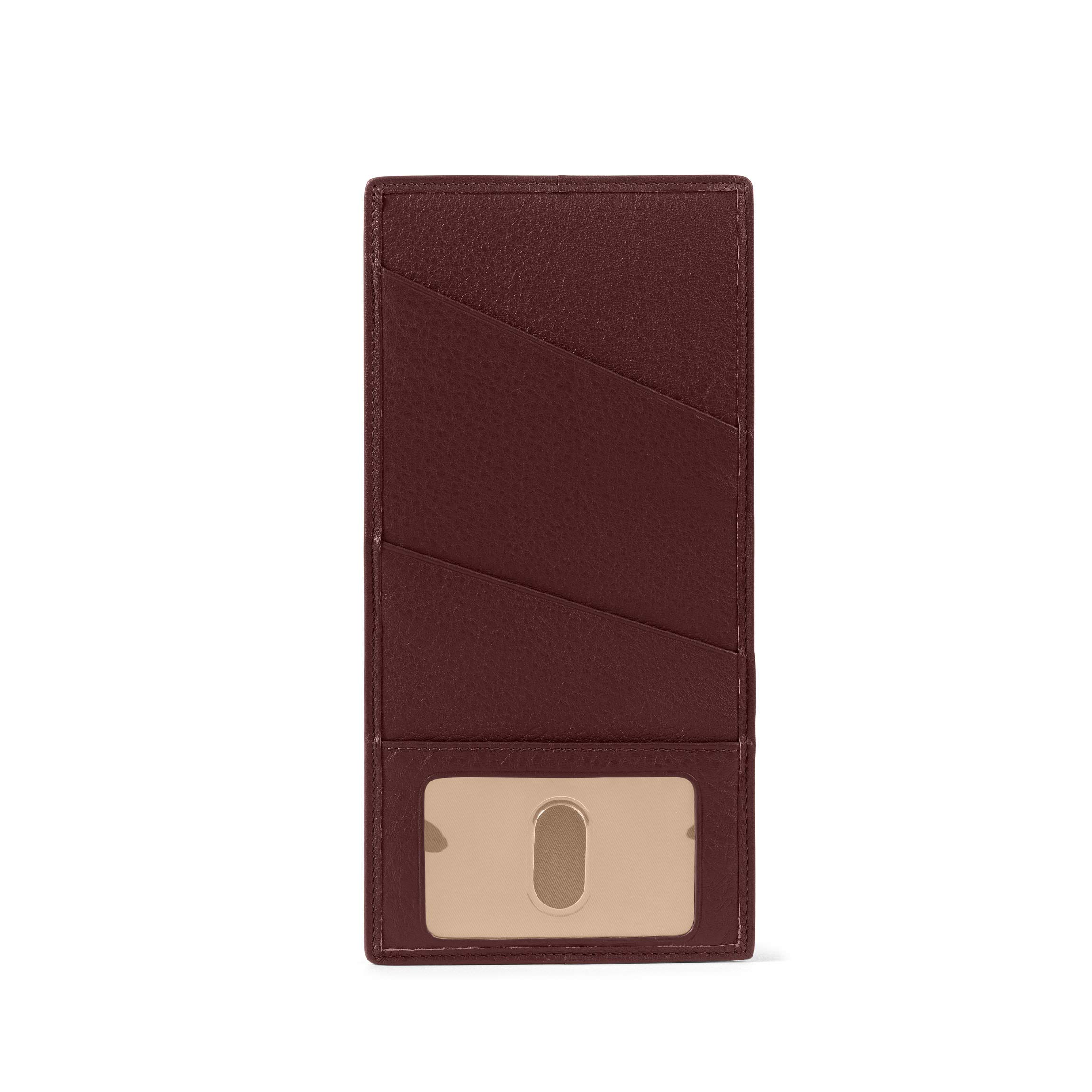 Slim Passport Ticket Holder - Full Grain Leather Leather - Bordeaux (Red)