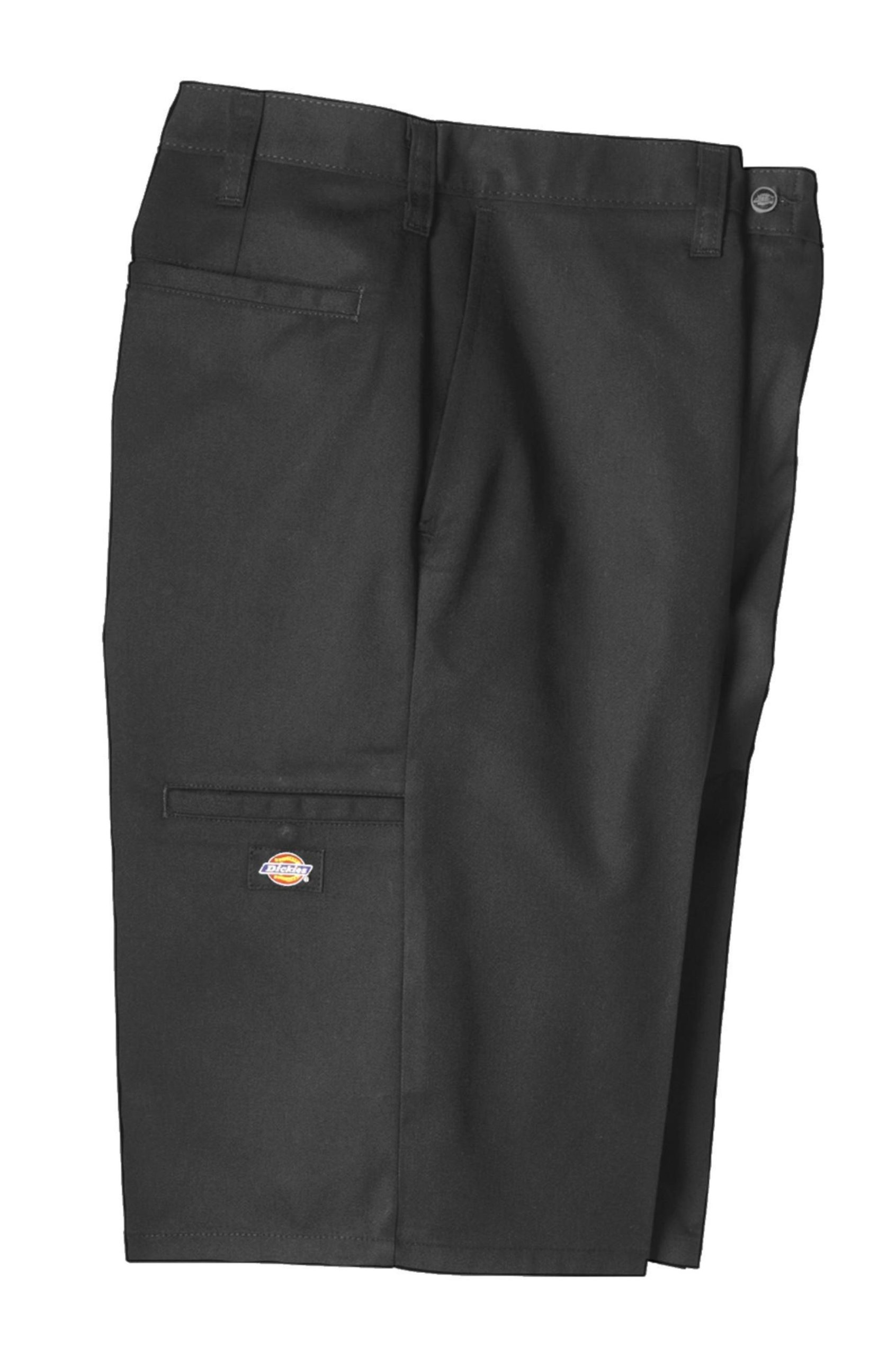 Dickies Occupational Workwear LR642BK 33 Polyester/Cotton Relaxed Fit Men's Premium Industrial Multi-Use Pocket Short with Hidden Snap Closure, 33'' Waist Size, 11'' Inseam, Black