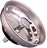 Replacement Fixed Post Sink Strainer Basket, Stainless Steel, Fit All by Supply Guru