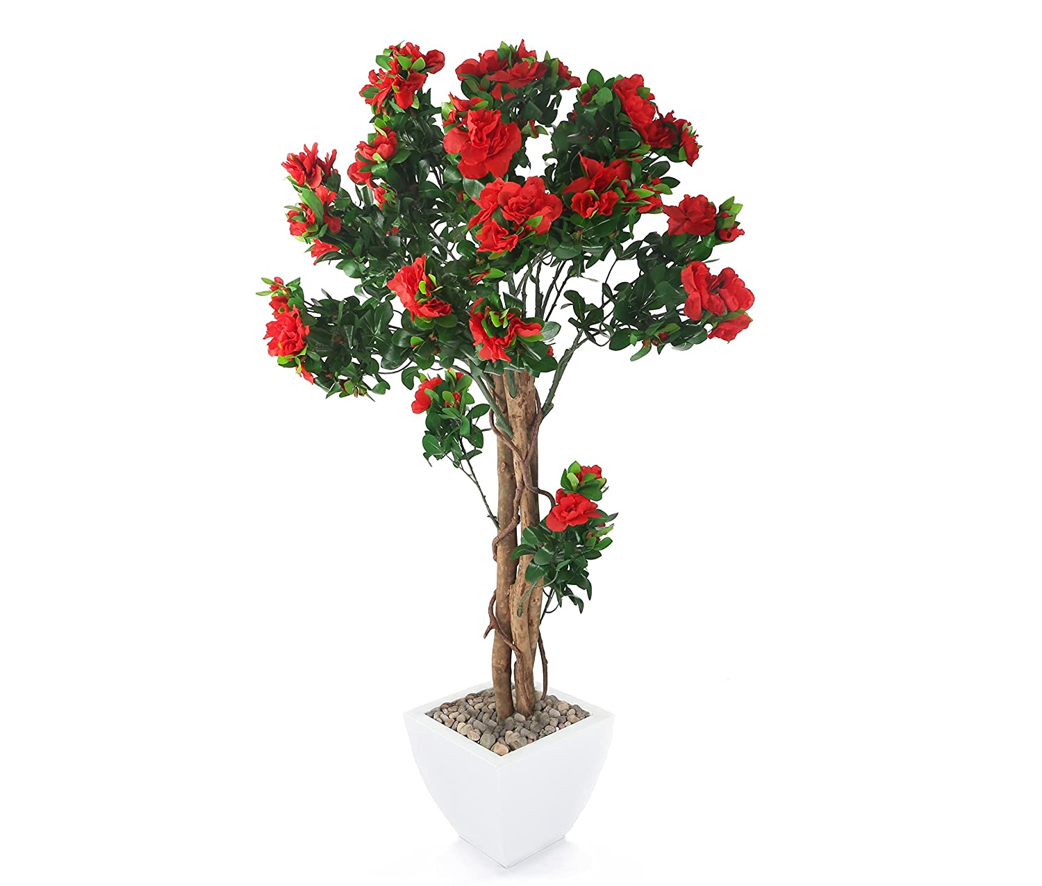 Closer2Nature Artificial 4ft Red Azalea Tree - Portofino Planter Not Included FT001RW