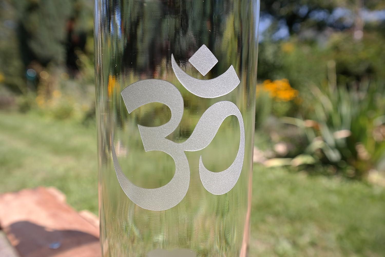 freiglas 1,0l Botella Om & amor ~ fabricado en negro bosque ...
