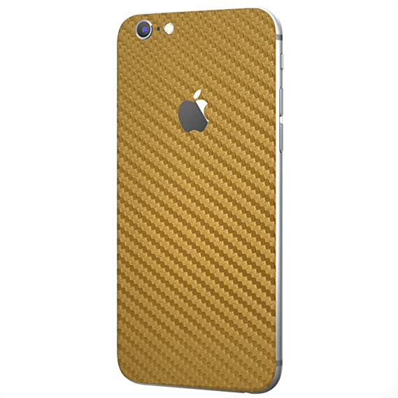 quality design e16d6 7f87f Gold Carbon Fiber SKINTZ Protective Skin Wrap Compatible with iPhone 6 /  iPhone 6s