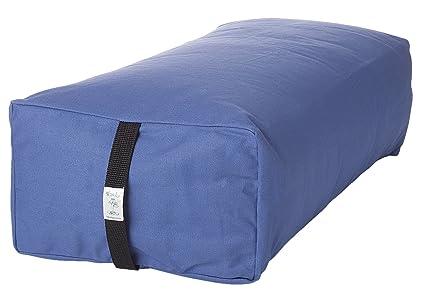 Bheka Rectangular 100% Cotton Yoga Bolster (Blue)