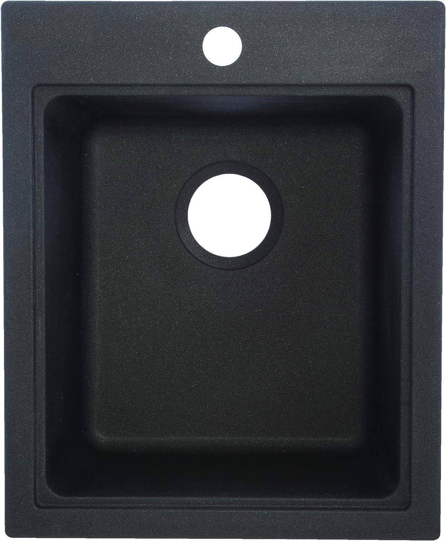 Franke SZGR1720-1 Single Bowl Sink Utility Granite 9-Inch Deep, Graphite