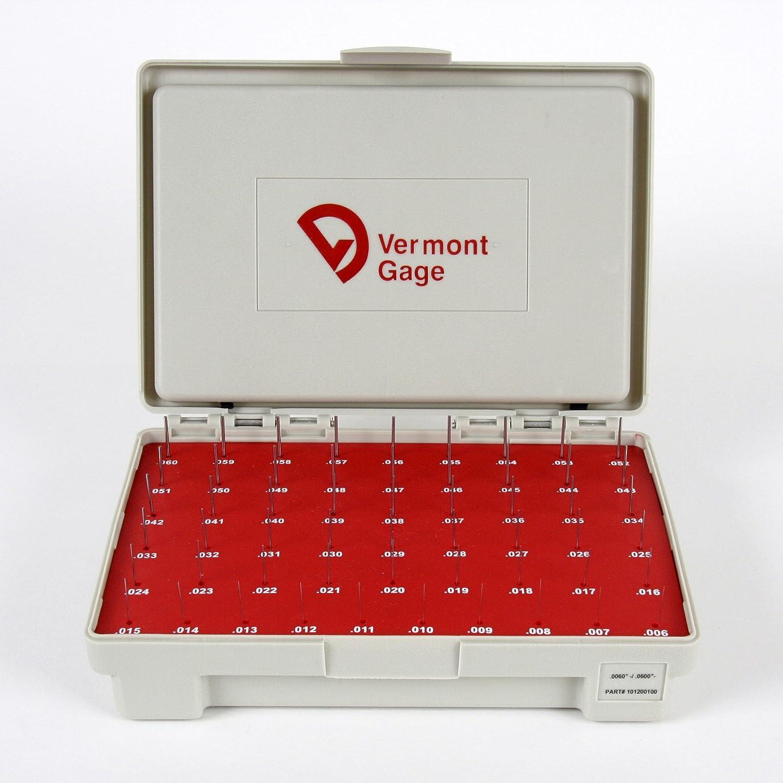 0.2510-0.5000 Gage Diameter Vermont Gage Steel No-Go Pin Gage Set Tolerance Class ZZ Set of 250