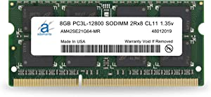 Adamanta 8GB (1x8GB) Laptop Memory Upgrade DDR3/DDR3L 1600Mhz PC3L-12800 SODIMM 2Rx8 CL11 1.35v Notebook RAM DRAM