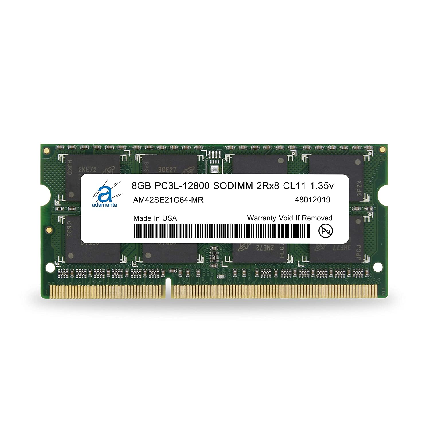 Adamanta 8GB (1x8GB) Laptop Memory Upgrade Compatible with Dell Alienware, Inspiron, Latitude, Optiplex, Precision, Vostro DDR3L 1600Mhz PC3L-12800 SODIMM 2Rx8 CL11 1.35v Notebook RAM P/N SNPN2M64C/8G