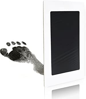 Clean Touch Ink Pad for Baby Handprints and Footprints – Inkless Infant Hand & Foot Stamp – Safe for Babies, Doesn't Touch Skin – Perfect Family Memory or Gift – Black Print Kit by Tiny Gifts