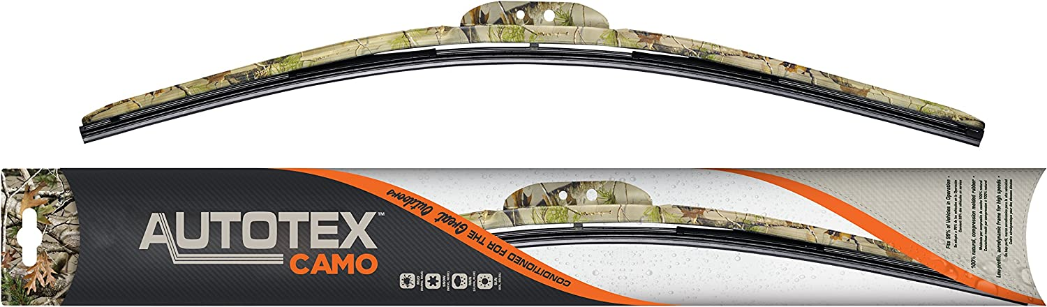 "AutoTex CAMO AC-016 Flex Windshield Wiper Blade with Camouflage Frame - 16"" (Pack of 1)"