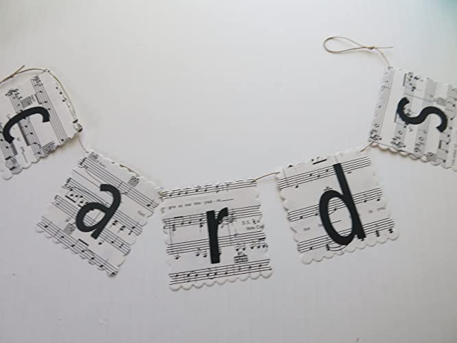 music cards banner petite sheet music wedding sign bridal shower decor song book