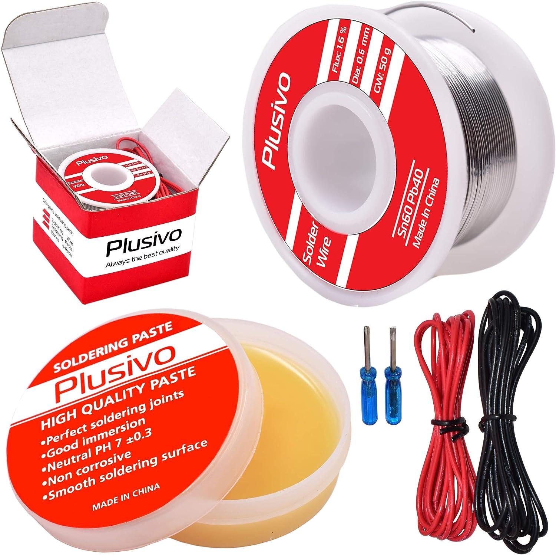2Pcs Useful 0.8mm 63//37 Tin Lead Rosin Core Solder Welding Iron Wire Reel GW