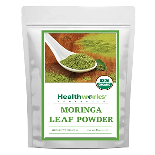 Healthworks Moringa Leaf Powder 8 Ounces Organic