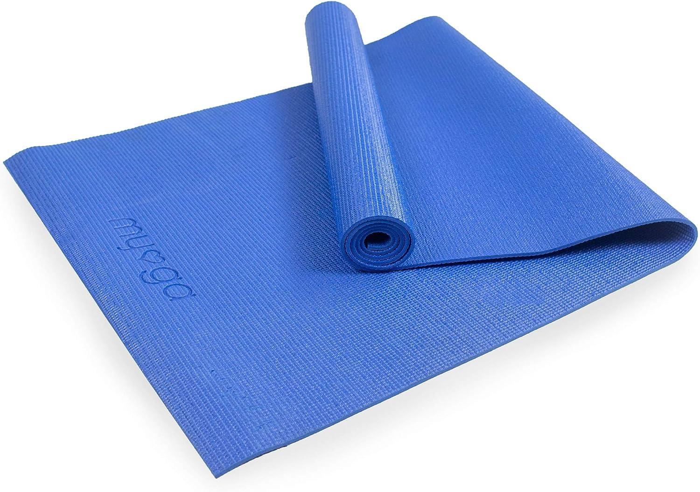 Myga Tapis de Yoga pour Pilates Bleu