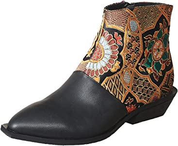 81599b773bc Antelope Women s 394 Leather Tapestry Bootie