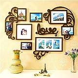 F&A=R Juego de Marcos de Fotos para decoración del hogar, Love Heart, 1