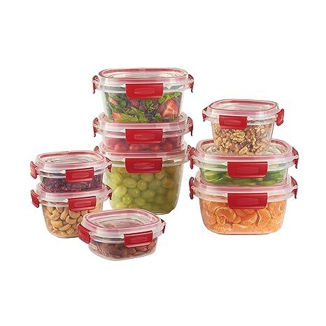 Amazoncom Rubbermaid Easy Find Lids 18 Piece Food Storage