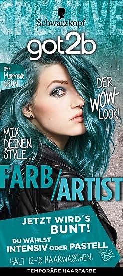 got2b 097 Mermaid verde color de Artist Color del pelo (3 unidades, X 80 ml)