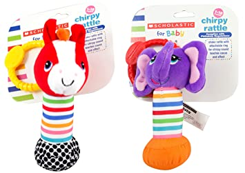 Styles Vary Scholastic Baby Rattle 3-Pack