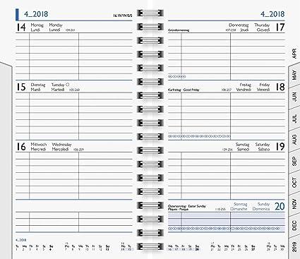 2020 Wochen- Ersatzkalender Brunnen Modell 758 1 Wo = 1 Seite 8,7 x 15,3 cm