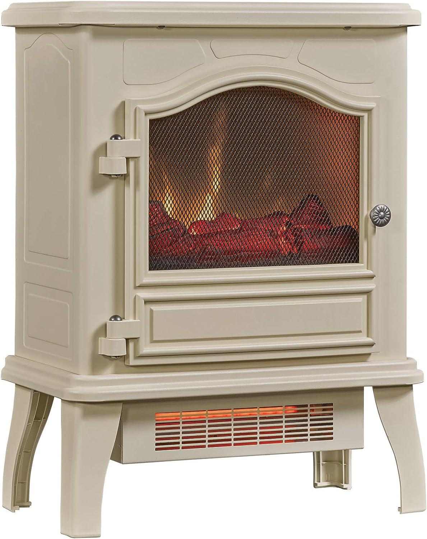Amazon Com Chimneyfree Infrared Quartz Electric Space Heater Cream Home Kitchen