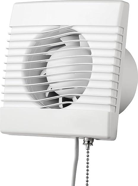 Ventilator Mit Zugschalter Mm Cm In Wei Aus Kunststoff Fr Kche Badezimmer  With Ventilator Badezimmer