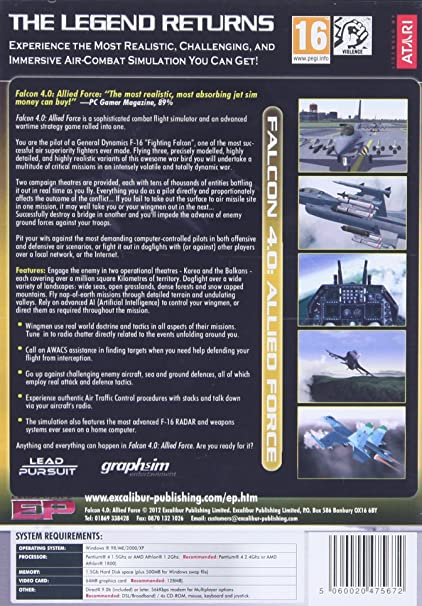 Buy Falcon 4 0: Allied Force (PC) Extra play Online at Low