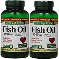 Fish Oil by Nature's Bounty, Dietary Supplement, Omega-3, Supports Heart Health, 1200 mg Twin Packs, 360 Rapid Release…