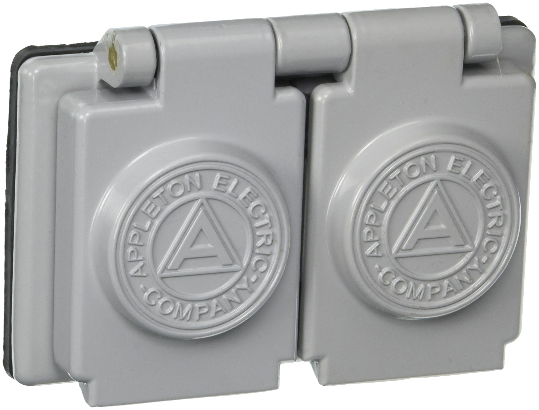 Appleton FSK-WRD Cover, Duplex, 1 Gang, CF Aluminum, 1-3/8'' Hole Diameter