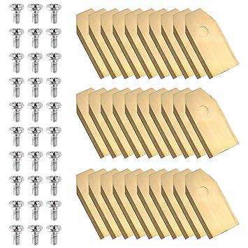 mvpower 30 x revestimiento de titanio Cuchillo Cuchillas ...