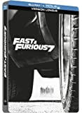 Fast and Furious 7 (Blu Ray+ Digital HD Ultraviolet) [Blu-ray + Copie digitale - Édition boîtier SteelBook]