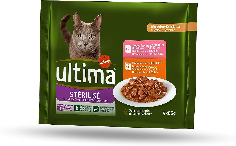 ultima Comida Húmeda para Gatos Esterilizados Multipack - 340 gr ...