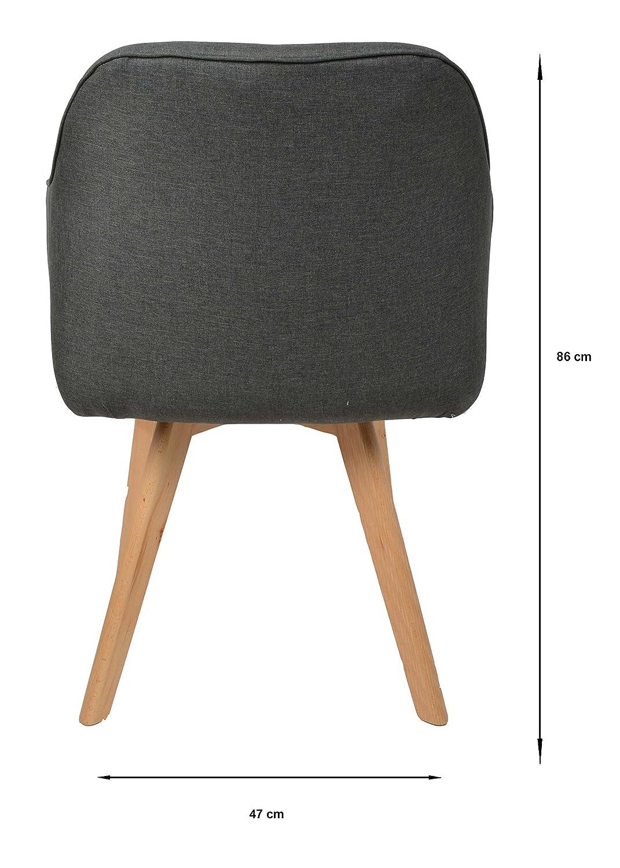 Ts Ideen Lounge Design Stuhl Bar Sessel Clubsessel Holz  Anthrazit  Stoffbezug Zum Sitzen Im Wohnzimmer Büro Esszimmer Oder Im Flur: Amazon.de:  Küche U0026 ...