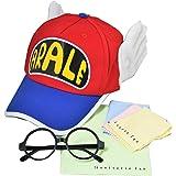 [ コスプレ ]Dr.スランプ アラレちゃん 帽子 とメガネ セット 大人用 (54cm~60cm)& 24ユニバースグッズ セット