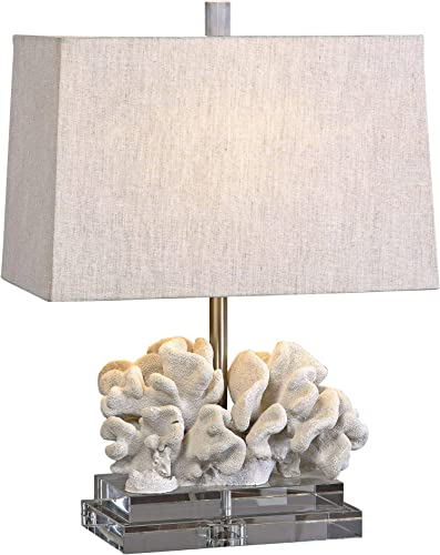Uttermost Taupe Ivory Coral Table Lamp