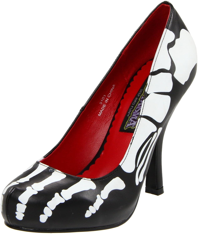 XRay Skelett Heels Pumps High Heels Skelett Absatz 11,4 cm, Pu Schwarz, 41-42 EU / 11 US 9690ef