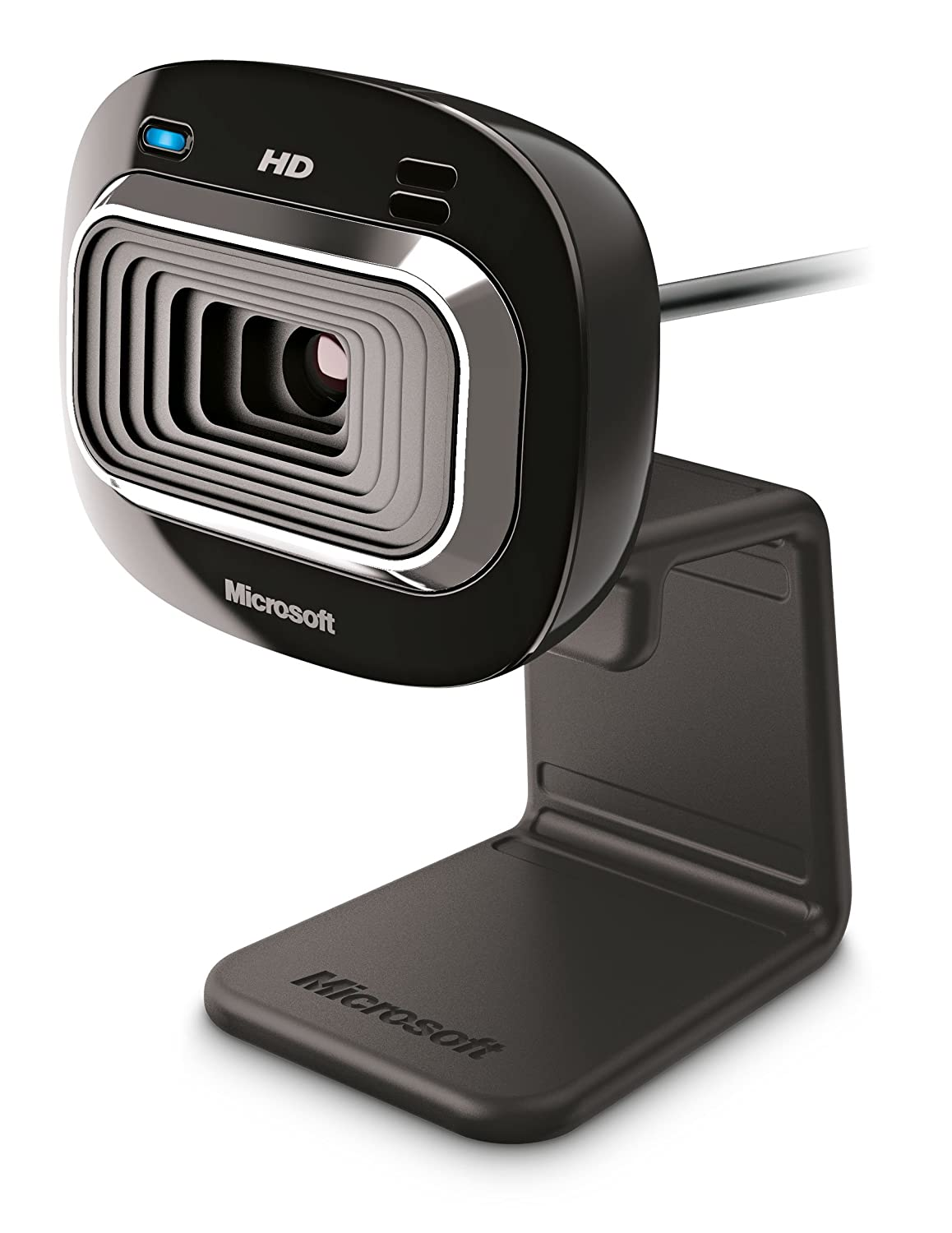 Microsoft LifeCam HD-3000 - Webcam (micrófono integrado, USB 2.0), negro